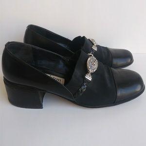 Brighton Leather Square Toe Loafers